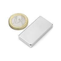 Power magnet, Blok 40x20x5 mm. Fra Magnetz.