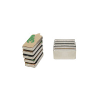 Power magneter, Blok 20x10x3 mm. m/lim, 10-pak