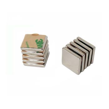 Power magneter, Blok 20x20x3 mm. m/lim, 10-pak