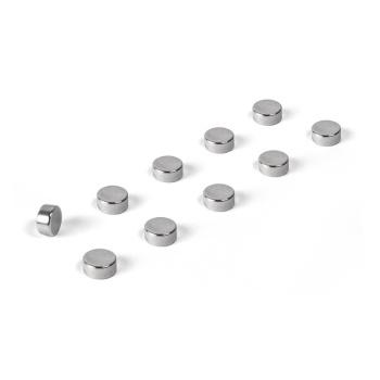 Flotte sølvfarvede power magneter 6x3 mm. fra Trendform.