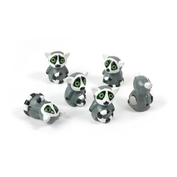 De sødeste lemurer magneter. Du får her 6 stk. til en god pris.