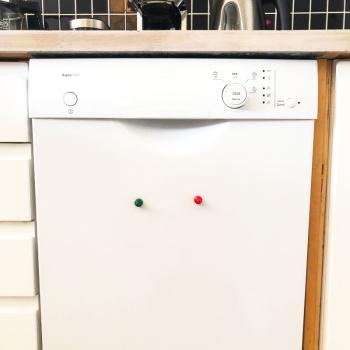 Opvaskemaskine sæt (rød & grøn kraftig magnet LUDO)
