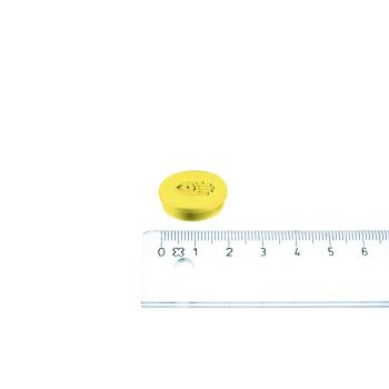 Lille gul kontormagnet fra Legamaster i ø20