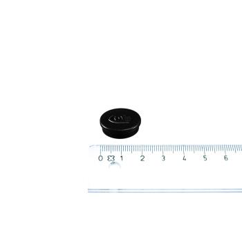 Lille sort kontormagnet fra Legamaster i ø20