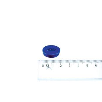 Lille blå kontormagnet fra Legamaster i ø20
