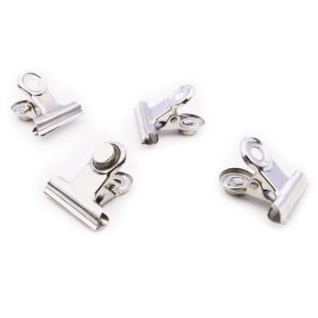 Magnetklemmer sølv, Bulldog xsmall 4-pak. Fra Trendform.