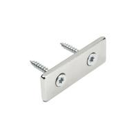Aflang magnet neodymium 80x20x4 mm. med 2 skruehuller