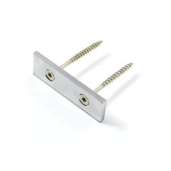 Panelmagnet aflang 80x20x4 mm. med 2 skruehuller