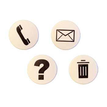 Hvide magneter med symboler - bestseller pakken BIZ one magneter