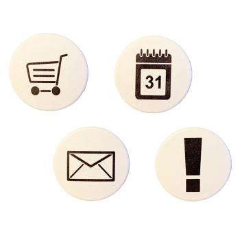 eHandels magneter i 4-pak - få styr på tavlen og struktur i hverdagen