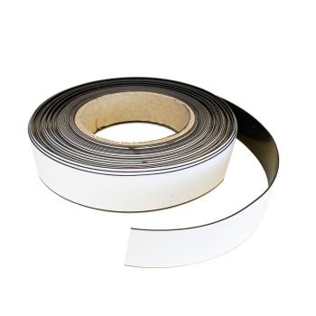 Magnetrulle 25 mm. - 10 meters rulle med fleksibelt magnetbånd i hvid