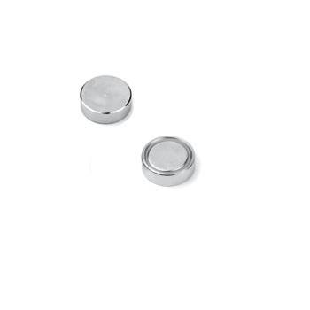 16 mm. neodymium magnet med stålpotte plan - glue-in magnets