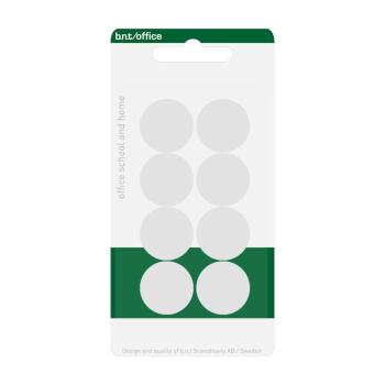 Pakke med 8 billige hvide kontormagneter 20 mm. fra BNT Scandinavia