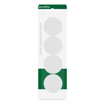 Pakke med 4 stk. billige hvide kontormagneter 40 mm. fra BNT Scandinavia