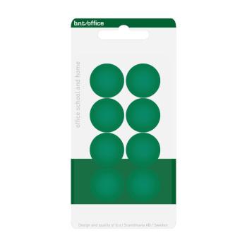 Pakke med 8 billige grønne kontormagneter 20 mm. fra BNT Scandinavia