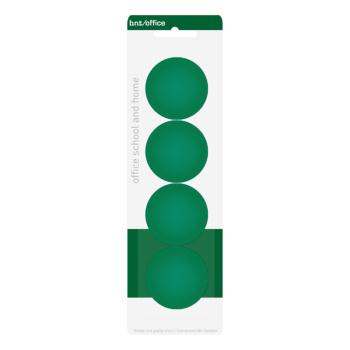 Pakke med 4 stk. billige grønne kontormagneter 40 mm. fra BNT Scandinavia