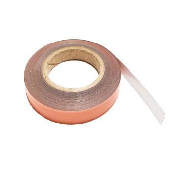 Selvklæbende hvidt metalbånd på rulle 19 mm., salg fra 1 meter