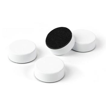 White metal magneter - pakke med 4 stærke hvide magneter