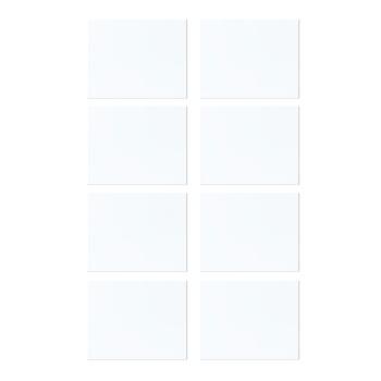 Hvidt magnetark i str. A7 (pakke med 8 stk.)