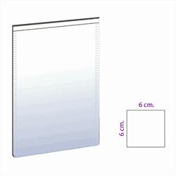 Magnetlomme hvid 6x6 cm.
