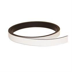 Hvidt magnetbånd 10 mm. x 1 meter