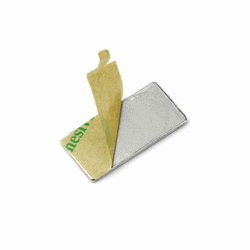 Powermagneter med lim str. 20x10x1 mm., 10-pak