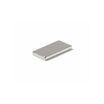 Firkantet powermagnet 20x10x2 mm. neodymium