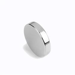 Neodymium magneter disc 20x3 mm. forniklet