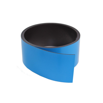 1 meter blåt magnetbånd 40 mm. på rulle