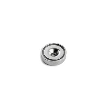 Undersænket pottemagnet ø16 mm. af stål og neodymium
