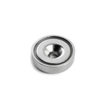 Undersænket pottemagnet ø40 mm. af neodymium og stål