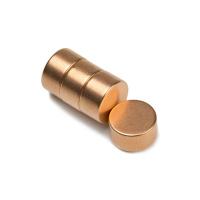 Kobbermagnet 15x8 mm. af neodymium