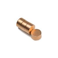 Kobbermagnet 12x6 mm. af neodymium