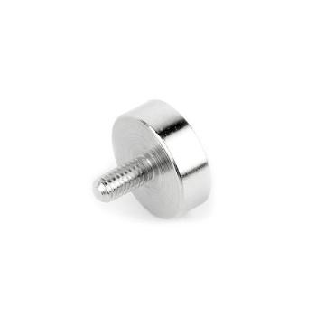 Neodymium pottemagnet med udvendigt gevind M5 str. ø25 mm.