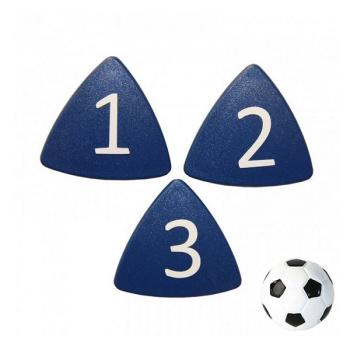 Stærke taktikmagneter nr. 1-11 + fodboldmagnet