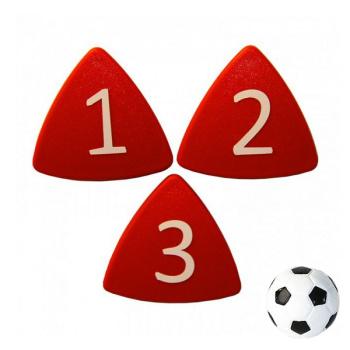 Stærke taktikmagneter røde 1-11 inkl. fodboldmagnet