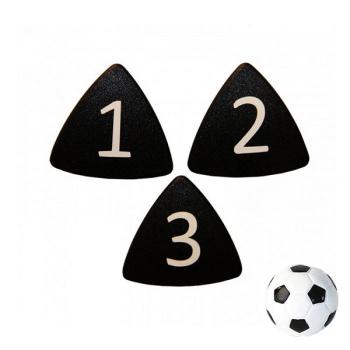 Sorte taktikmagneter nr. 1-11 inkl. fodboldmagnet