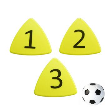 Gule taktikmagneter nr. 1-11 + fodboldmagnet