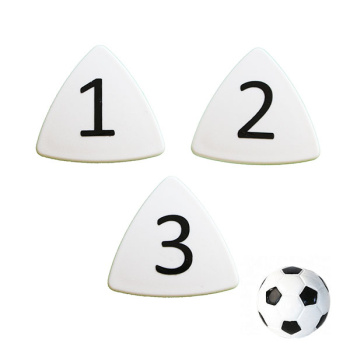 Hvide taktikmagneter nr. 1-11 + fodboldmagnet