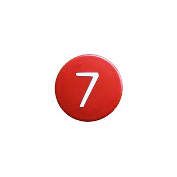Stærk rød kontormagnet m. 7-tal