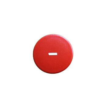 Rød rund minus-magnet