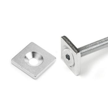 Firkantet magnetisk metalplade 20x20x3 mm.