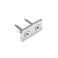 Neodymmagnet med undersænkede huller til 2 skruer 40x20x4 mm.