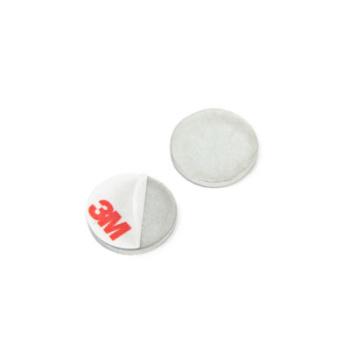 Små metalplader med selvklæb ø20 mm. - ikke magneter