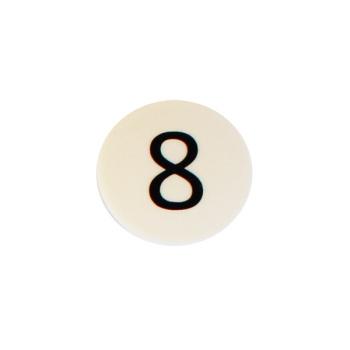 Hvid talmagnet m. tallet 8
