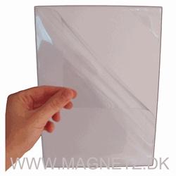 Magnetlomme 10x15 cm. hvid med quickload trekantåbning