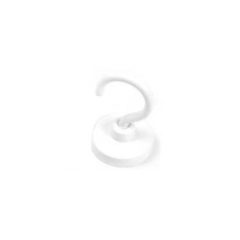 Hvid krogmagnet ø40,3 mm. neodymium m. stålpotte