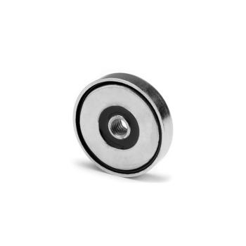 32 mm pottemagnet neodymium N38 med indvendigt gevind