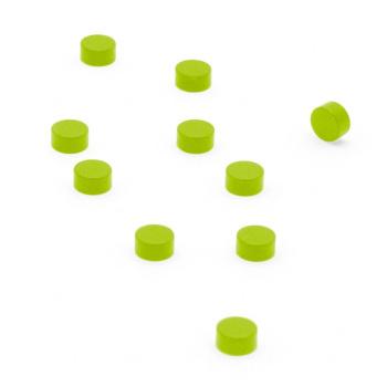 Grønne powermagneter 10-pak, 6x3 mm.
