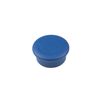 Blå mini kontormagnet rund, Boston Xtra